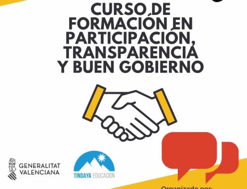Curso de formación en participación, transparencia y buen gobierno 2018